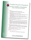Canadian Journal of Anesthesia Logo